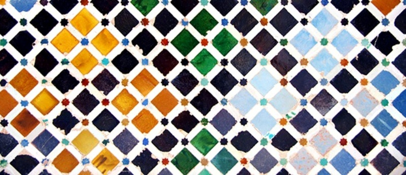 Tile decoration, Alhambra palace, Spain